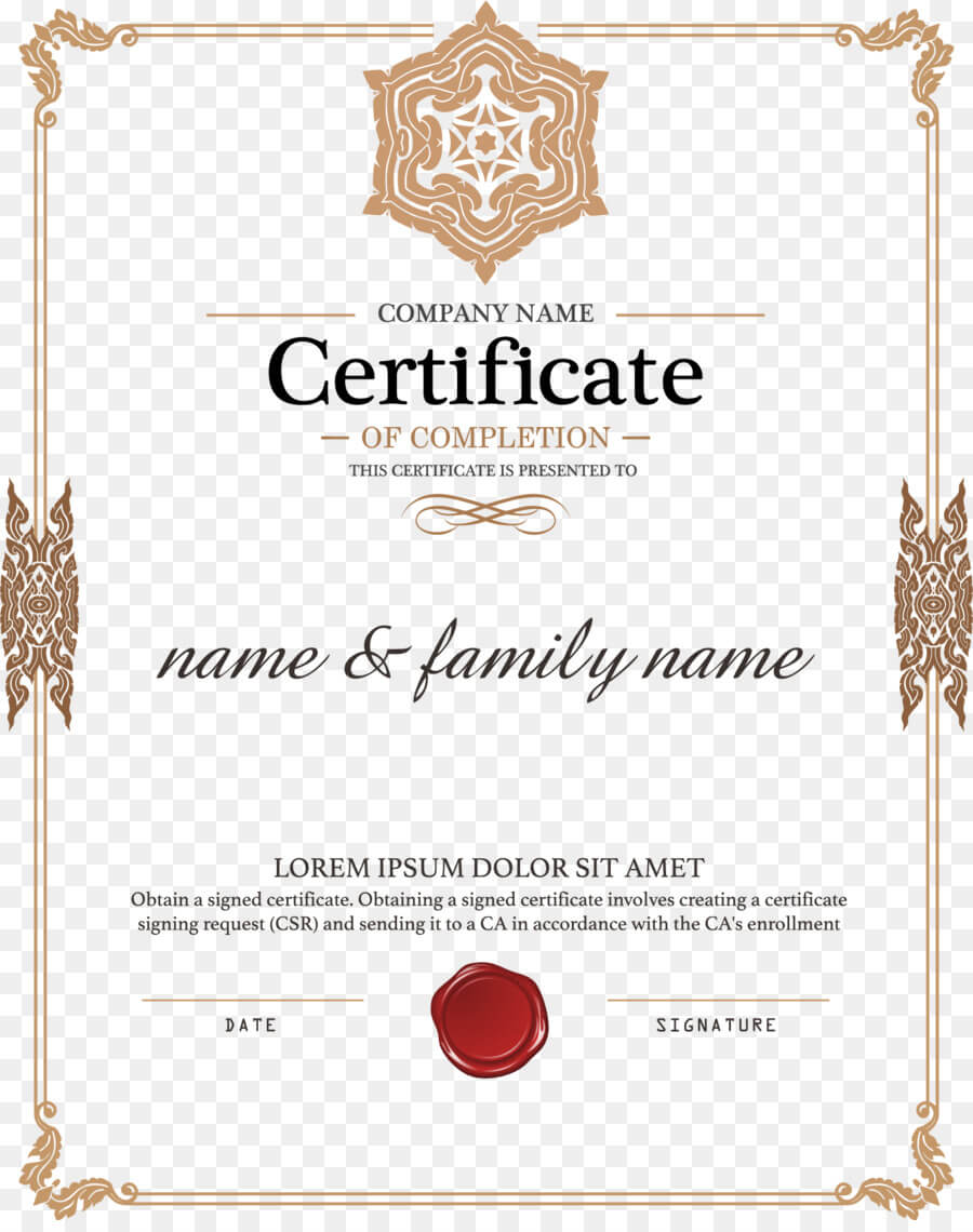 Certificate Template Png Download - 1579*1980 - Free Intended For Certificate Of Authorization Template