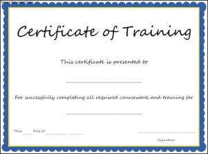Certificate Template Training 7 – Elsik Blue Cetane with regard to Template For Training Certificate