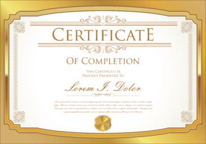 Certificate Template Vector – Download Free Vector Art with Commemorative Certificate Template