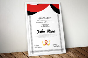 Certificate Template – Vsual for Indesign Certificate Template