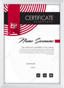 Certificate Template With Clean And Modern Pattern, Qualification.. for Qualification Certificate Template