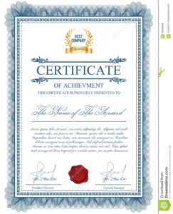 Certificate Template With Guilloche Elements. Stock Vector pertaining to Validation Certificate Template