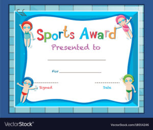 Certificate Template With Kids Swimming in Swimming Award Certificate Template