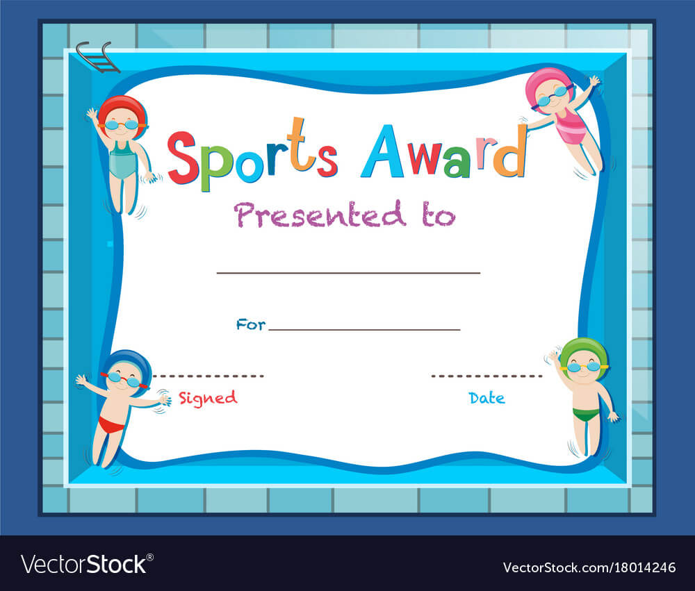 Certificate Template With Kids Swimming Regarding Swimming Certificate Templates Free