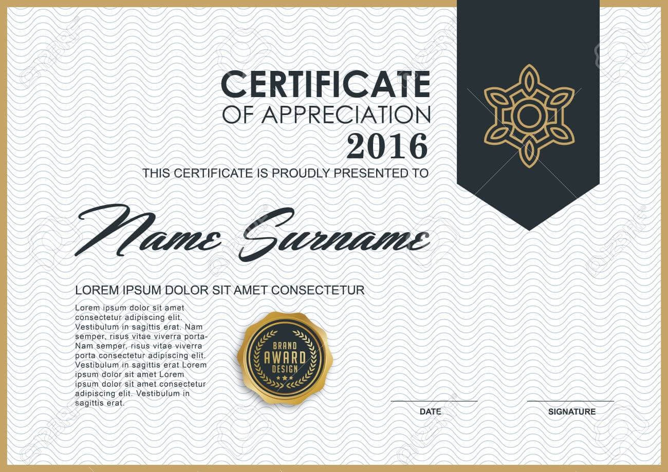Certificate Template With Luxury And Modern Pattern,, Qualification.. Regarding Qualification Certificate Template