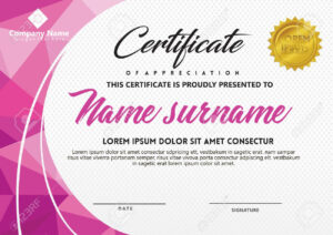 Certificate Template With Polygonal Style And Modern Pattern.. in Workshop Certificate Template