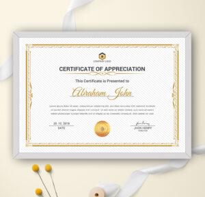 Certificate Template Word, Appreciation Certificate, Achievement  Certificate, Award Certificate, Printable, Editable Certificate, Modern with Borderless Certificate Templates