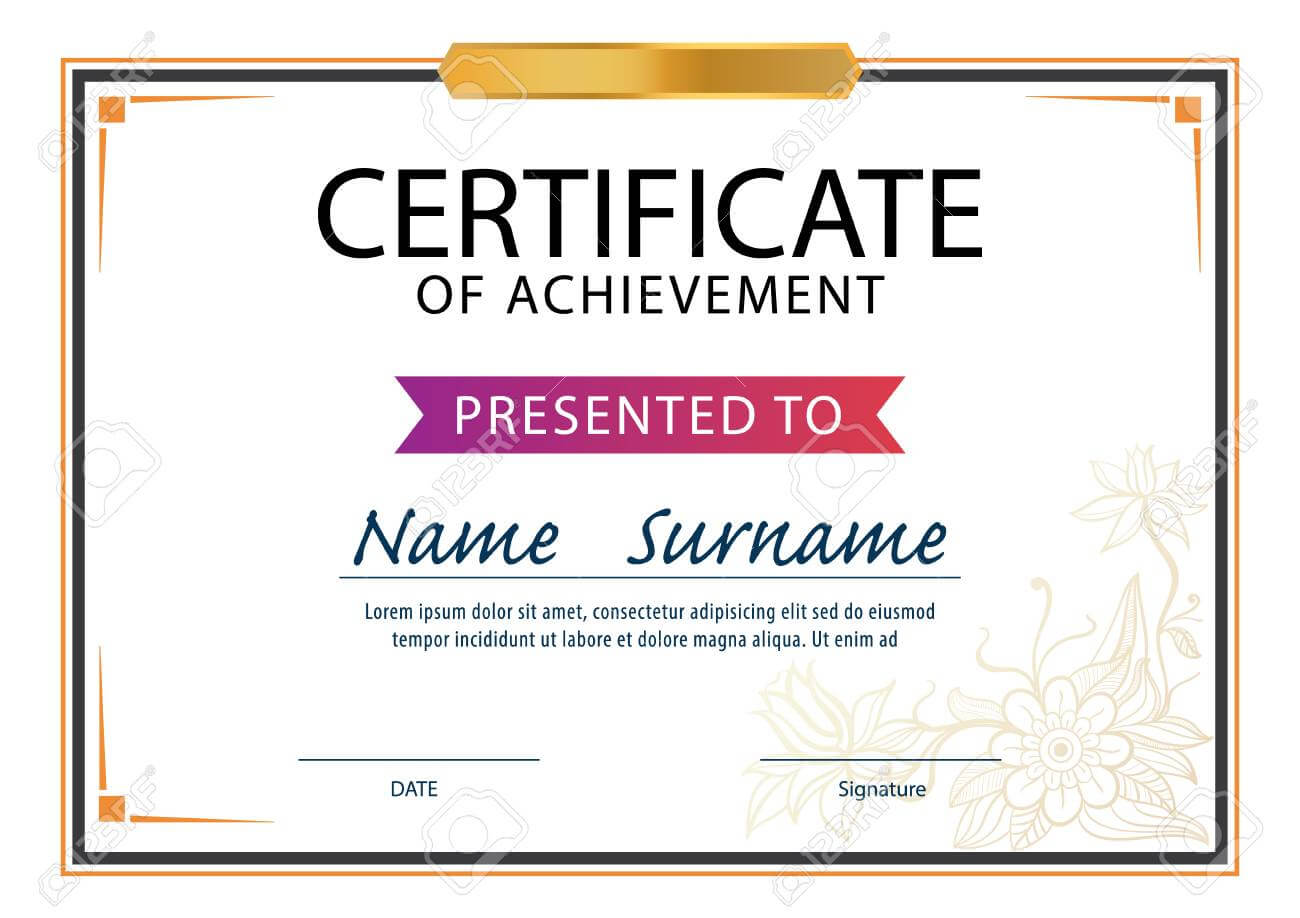 Certificate Template,diploma Layout,a4 Size ,vector Inside Certificate Template Size