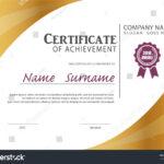 Certificate Templatediploma Layouta4 Size Vector Stock Regarding Certificate Template Size