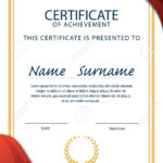 Certificate Template,diploma,a4 Size ,vector Royalty Free In Certificate Template Size
