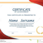 Certificate Template,diploma,a4 Size ,vector Stock Vector In Certificate Template Size