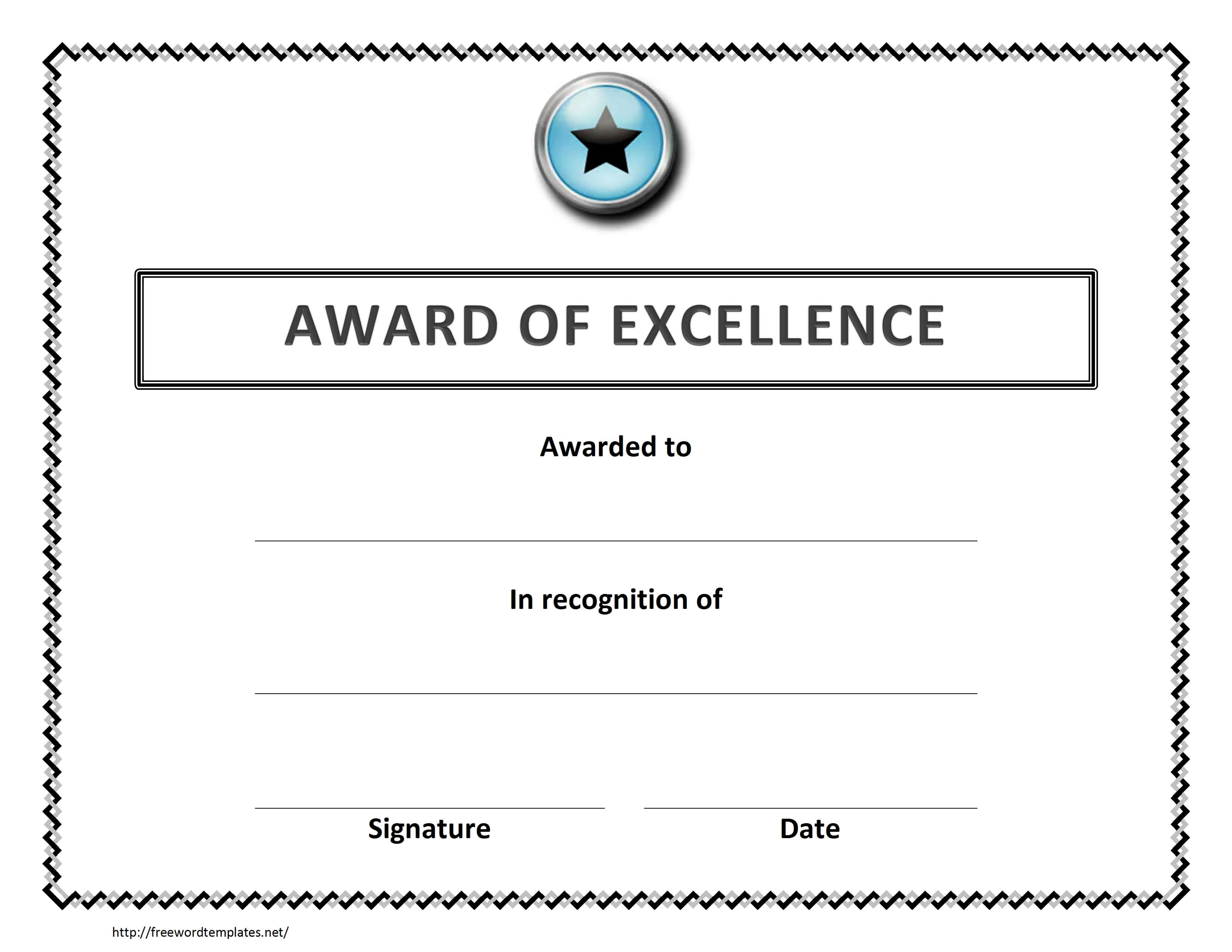 Certificate Templates: 7 Best Images Of Microsoft Word Pertaining To Microsoft Word Award Certificate Template