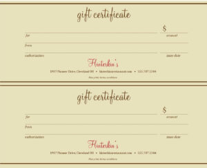 Certificate Templates: Best Photos Of Gift Certificate intended for Restaurant Gift Certificate Template