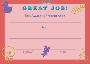 Certificate Templates For Kids Free Download 7 – Elsik Blue for Free Printable Certificate Templates For Kids
