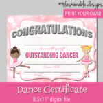 Certificate Templates: Free Dance Certificate Template For Dance Certificate Template