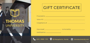 Certificate Templates: Free Graduation Gift Certificate inside Graduation Gift Certificate Template Free