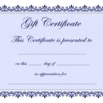 Certificate Templates | Gift Certificate Template Free – Pdf Within Generic Certificate Template