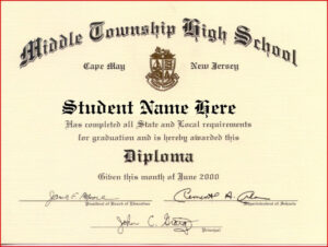 Certificate Templates | Health | Free High School Diploma in Ged Certificate Template