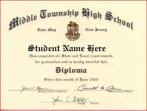 Certificate Templates | Health | Free High School Diploma within Free School Certificate Templates