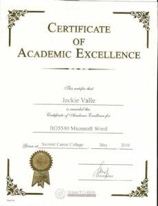 Certificate Templates: Sample Award Certificates pertaining to Academic Award Certificate Template
