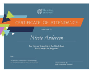 Certificate Templates with regard to Workshop Certificate Template