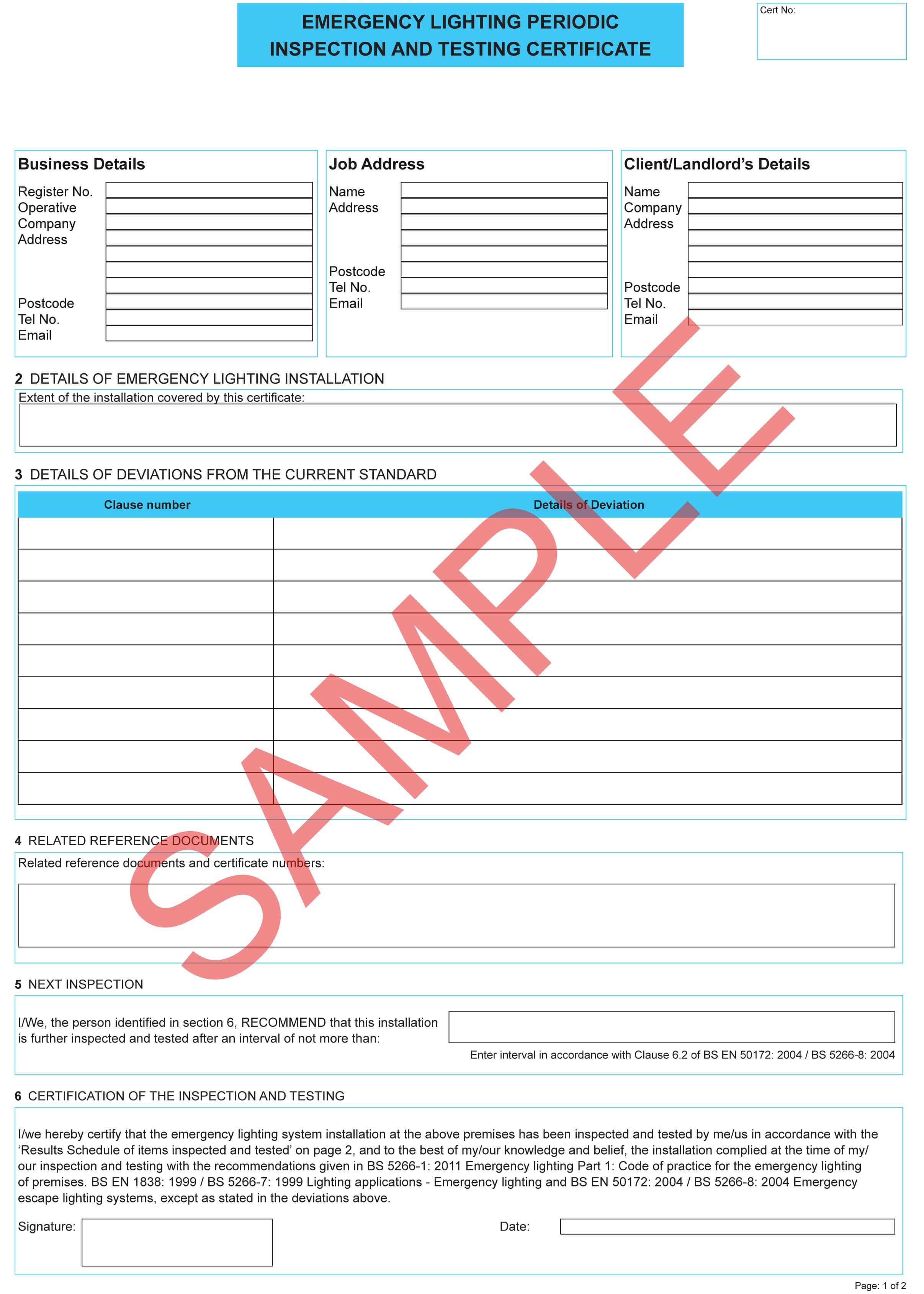 Certificates   Everycert Pertaining To Electrical Installation Test Certificate Template