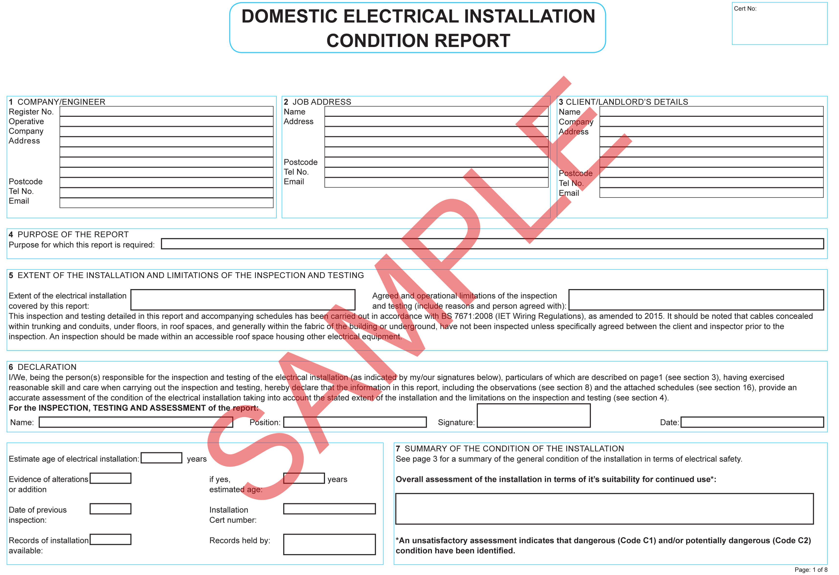 Certificates | Everycert Throughout Electrical Installation Test Certificate Template