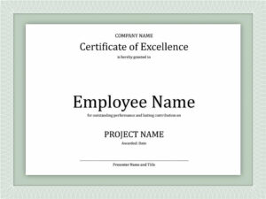 Certificates: New Good Work Certificate Templates Designs inside Employee Anniversary Certificate Template