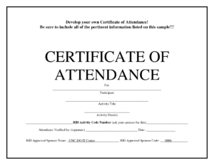 Certificates Of Attendance Templates – Hizir.kaptanband.co in Conference Certificate Of Attendance Template
