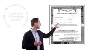 Certificates Of Origin / Mso – Chicago Watermark Company with regard to Certificate Of Origin For A Vehicle Template