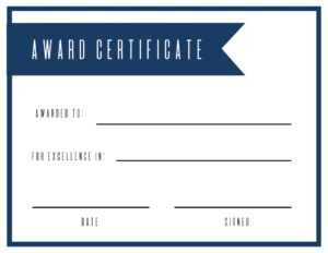 Certificates. Outstanding Blank Award Certificate Template intended for Sample Award Certificates Templates