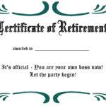 Certificates: Simple Sample Retirement Certificate Template For Retirement Certificate Template