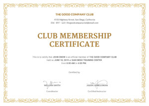 Certified Template Filename | Fabulous-Florida-Keys for New Member Certificate Template