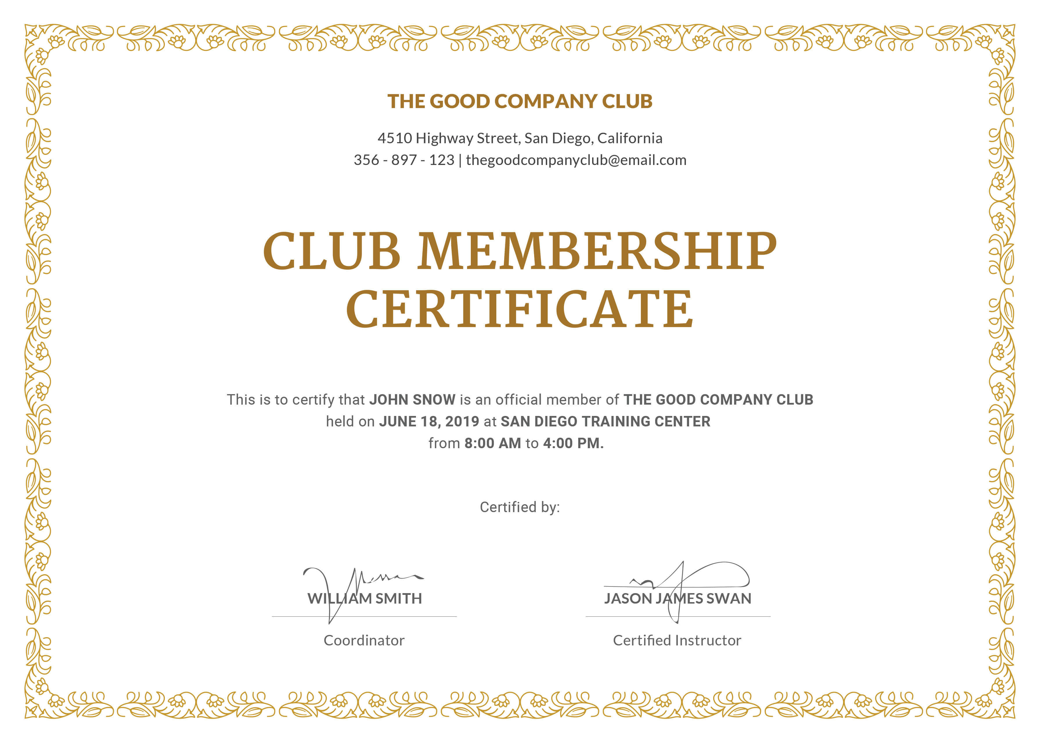 Certified Template Filename | Fabulous Florida Keys For New Member Certificate Template