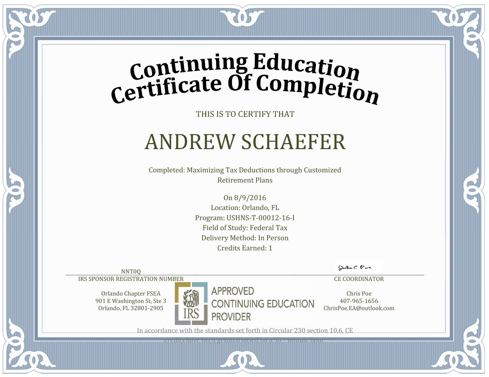 Ceu Certificate Of Completion Template Sample Regarding Ceu Certificate Template