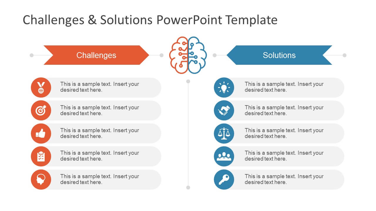 Challenges & Solution Powerpoint Template Intended For Powerpoint Template Resolution