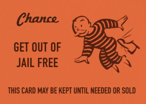 Chance Card Vintage Monopoly Gdesign Turnpike | Metal with Get Out Of Jail Free Card Template