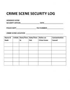 Chapter 8: Crime Scene Management – Introduction To Criminal for Crime Scene Report Template