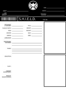 Character File Template – Shield File | Mcu pertaining to Shield Id Card Template