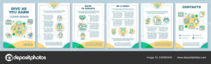 Charity Brochure Vectors | Volunteering Brochure Template pertaining to Volunteer Brochure Template