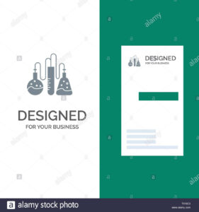 Chemical, Dope, Lab, Science Grey Logo Design And Business in Dope Card Template