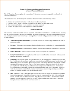 Chemistry Lab Report – Bushveld Lab within Chemistry Lab Report Template