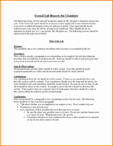Chemistry Lab Report Template 0 – Fabulous-Florida-Keys in Lab Report Template Chemistry