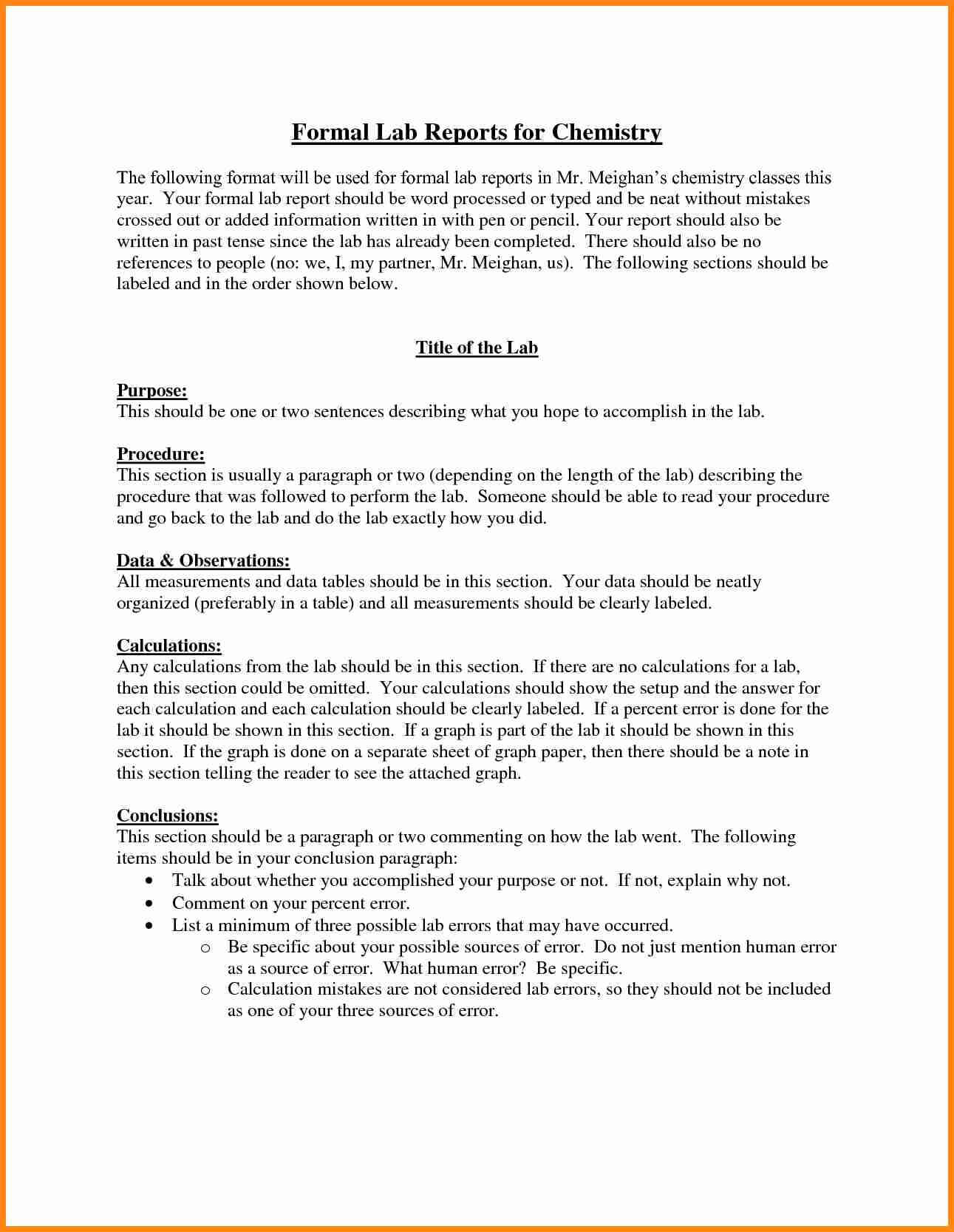 Chemistry Lab Report Template 0 - Fabulous Florida Keys With Chemistry Lab Report Template