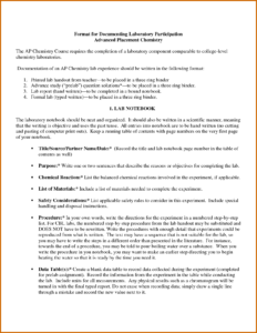Chemistry Lab Report Template 3 – Fabulous-Florida-Keys inside Chemistry Lab Report Template