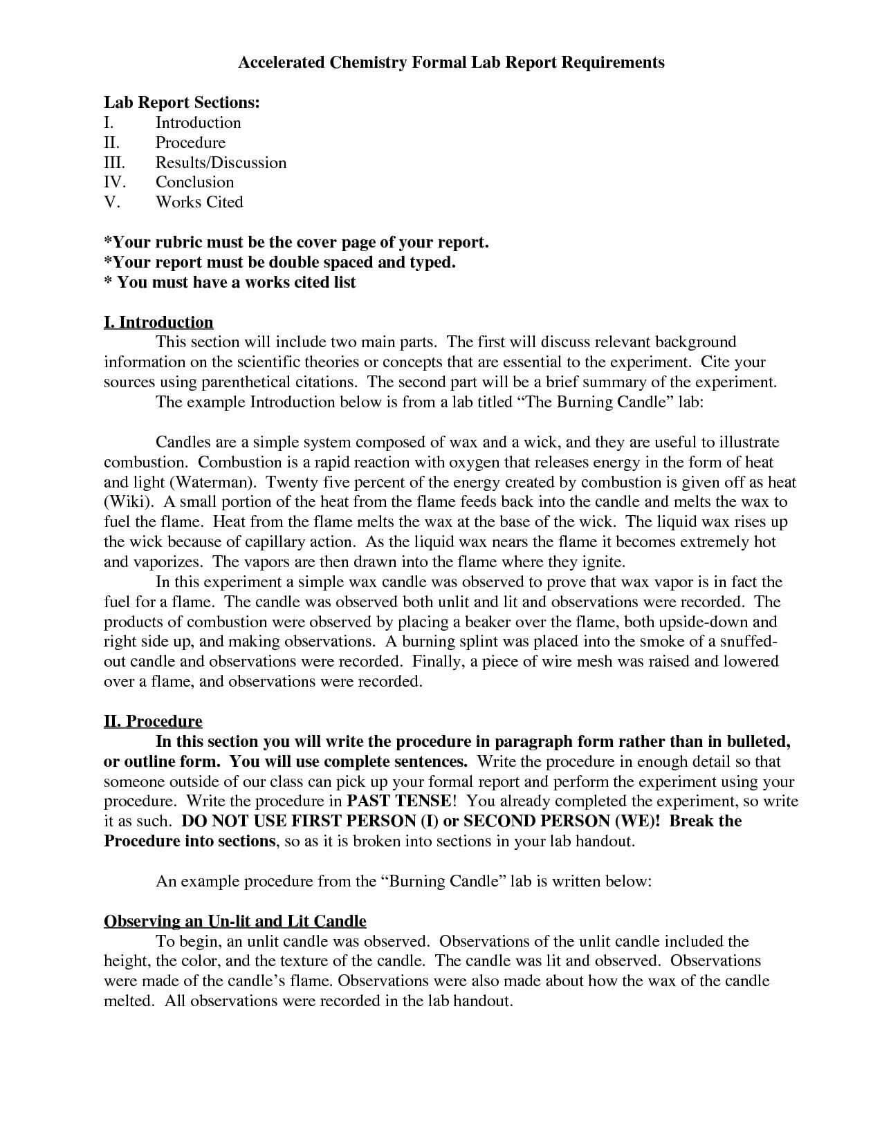 Chemistry Lab Report Template 7 – Fabulous Florida Keys Regarding Chemistry Lab Report Template