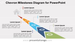 Chevron Milestones Diagram For Powerpoint – Presentationgo intended for Powerpoint Chevron Template