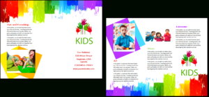 Child Care Brochure Template 9 intended for Daycare Brochure Template