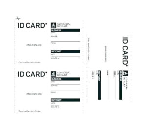 Child Id Card Template Free intended for Id Card Template For Kids