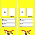 Child Id Card Template Free With Regard To Id Card Template For Kids